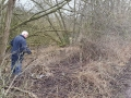 Clearing over-grown vegetation from canal