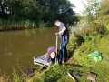 New fishing platforms on canal