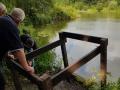 New fishing platforms on Privates pond